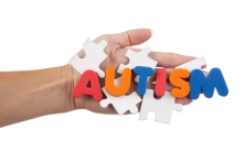The Word Autism On Blank Puzzle Pieces